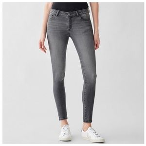 DL1961 Florence Midrise Ankle Skinny Drizzle/Gray